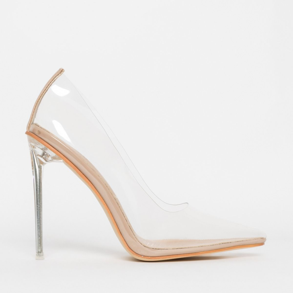 Christie Nude Clear Stiletto Court Shoes
