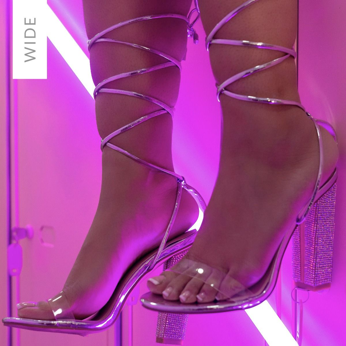 Karla Wide Fit Silver Clear Lace Up