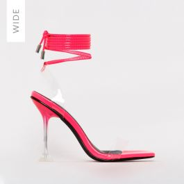 Lenor Wide Fit Hot Pink Patent Clear